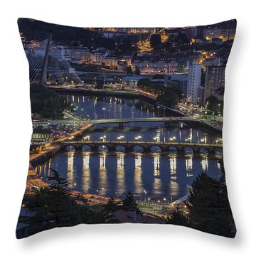 Throw Pillow featuring the photograph Lerez River Pontevedra Galicia Spain by Pablo Avanzini