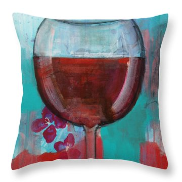 Throw Pillow featuring the painting Let It Breathe by Robin Maria Pedrero