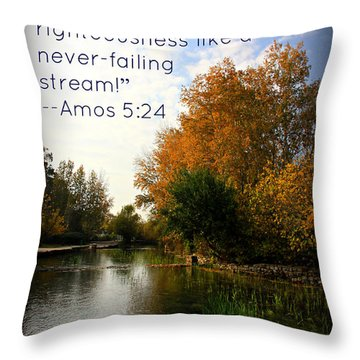 Let Justice Roll Throw Pillow