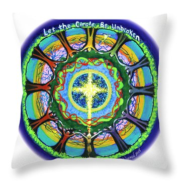 Let The Circle Be Unbroken Throw Pillow