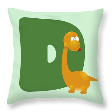 Letter D Throw Pillow by Gina Dsgn