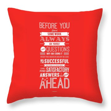 Life Motivating Quotes Poster Throw Pillow