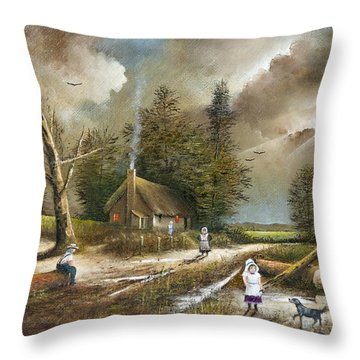 Lightening Tree Throw Pillow