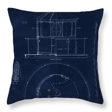 Lighthouse Lantern Drawing Throw Pillow by Jerry McElroy
