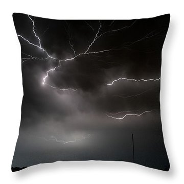 Throw Pillow featuring the photograph Lightning 2 by Richard Zentner