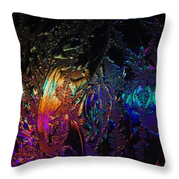 Lights Behind Frosted Glass Throw Pillow
