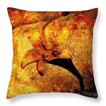 Lily Throw Pillow by Bernard Jaubert