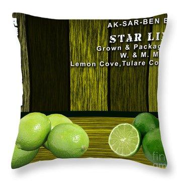 Lime Farm Throw Pillow