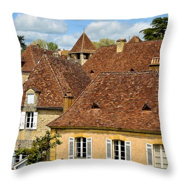 Throw Pillow featuring the photograph Limeuil En Perigord by Dany Lison