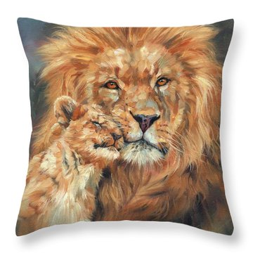 Lion Love Throw Pillow
