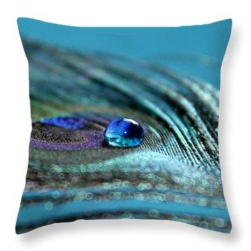Liquid Blue Throw Pillow