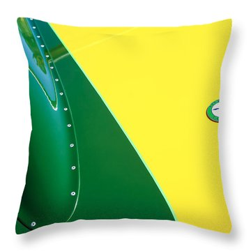 Lister Hood Emblem Throw Pillow by Jill Reger