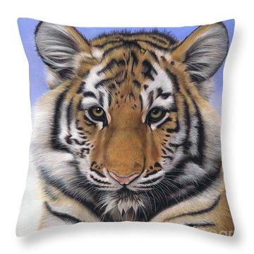 Little Big Cat Throw Pillow