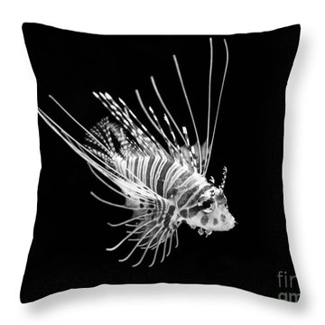 Little Lionfish Throw Pillow by Jamie Pham