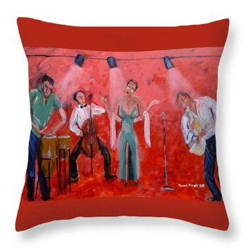 Live Jazz Throw Pillow