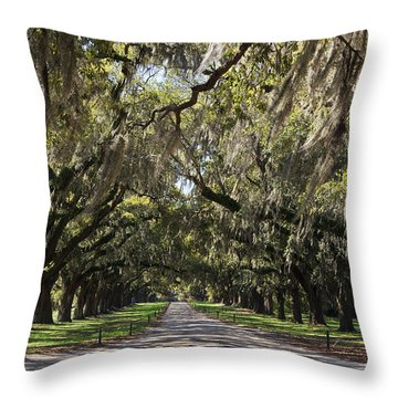 Live Oaks Throw Pillow