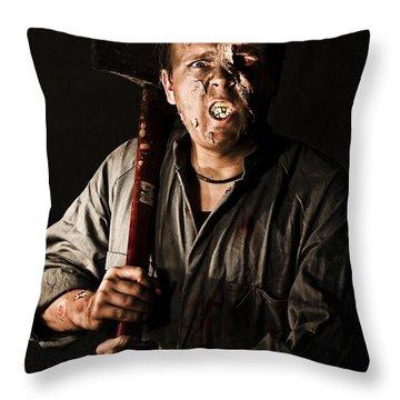 Living Dead Killer Zombie Throw Pillow