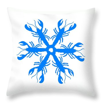 Lobster Snowflake 198 20080719 Throw Pillow by Julie Knapp