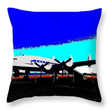 Lockheed Constellation Throw Pillow by Will Borden