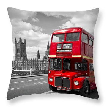 Tower Bridge London Throw Pillows