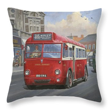 London Transport Q Type. Throw Pillow by Mike  Jeffries