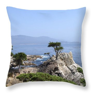 Lone Cypress Throw Pillow by Bev Conover