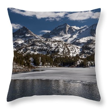 Long Lake Throw Pillow by Cat Connor