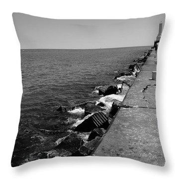 Long Thought Throw Pillow by Jamie Lynn
