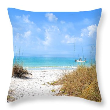 Anna Maria Island Escape Throw Pillow by Margie Amberge