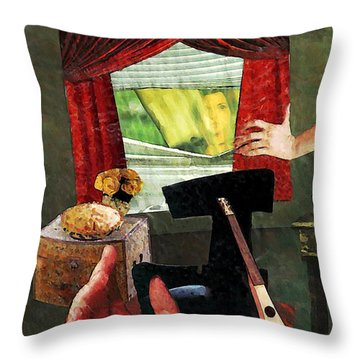 Looking In Throw Pillow by Sarah Loft