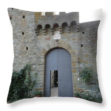 Loppiano's Castle Throw Pillow