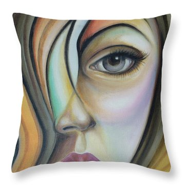 Throw Pillow featuring the painting Lost 150808 by Selena Boron