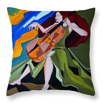 Lost In Music Throw Pillow