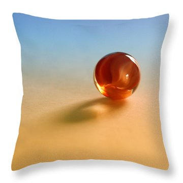 1 Lost Marble Throw Pillow by Tom Druin