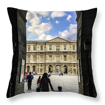 Louvre Throw Pillow