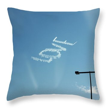 Throw Pillow featuring the photograph Love In The Air  by Lorna Maza