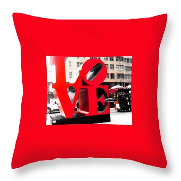 Love Throw Pillow by J Anthony