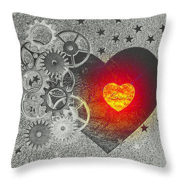 Throw Pillow featuring the photograph Love Makes It Work by Christine Ricker Brandt