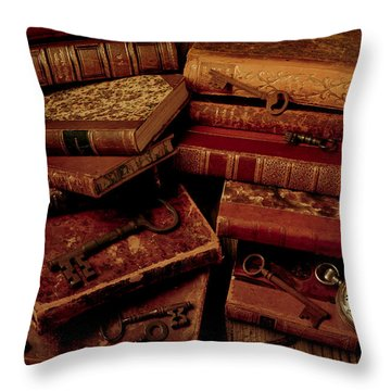 Love Old Books Throw Pillow by Garry Gay