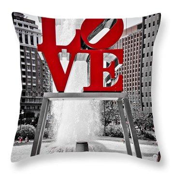 Love Park Throw Pillow