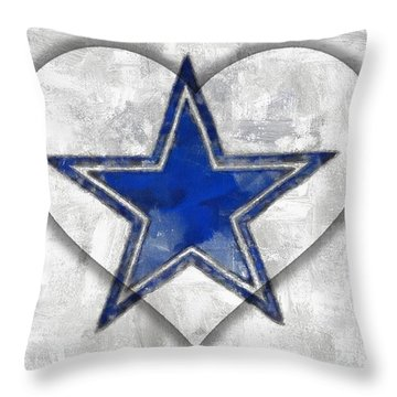 Love The Cowboys Throw Pillow