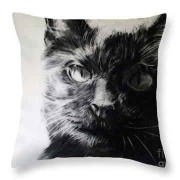 Love Throw Pillow by Valerie  Bruzzi
