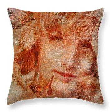 Loved By Butterflies Throw Pillow by Gun Legler