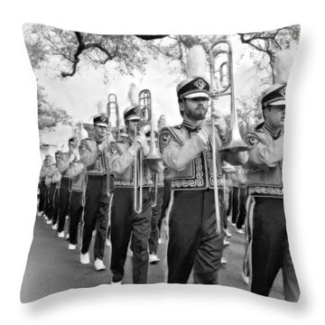 Lsu Marching Band Vignette Throw Pillow by Steve Harrington