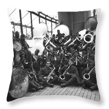 Lt. James Reese Europe's Band Throw Pillow
