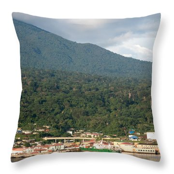 Luba On Island Of Bioko In Equatorial Guinea Throw Pillow by Gregory Daley  PPSA
