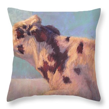 Luna Throw Pillow by Susan Williamson