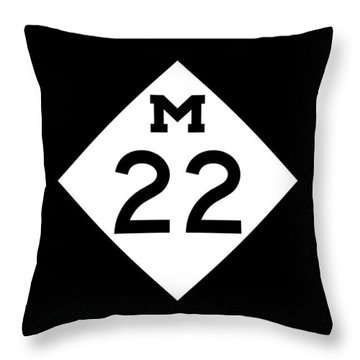 M 22 Throw Pillow