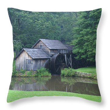 Mabry Mill Throw Pillow