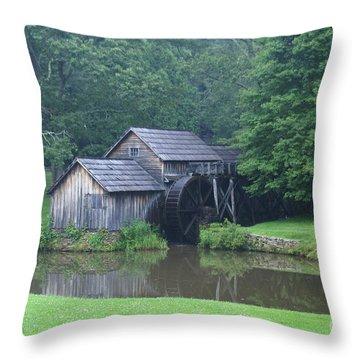 Mabry Mill Throw Pillow by Annlynn Ward